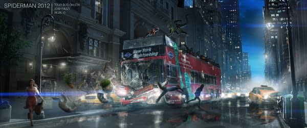Amazing Spider-Man And Django Unchained Concept Art For Unused Sequences And More