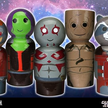 Guardians of the Galaxy Wooden Pin Mates Play On Nostalgia