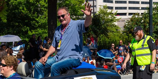 Jake The Snake Roberts during a DragonCon Parade on August 31, 2019. Editorial credit: Darryl Brooks / Shutterstock.com