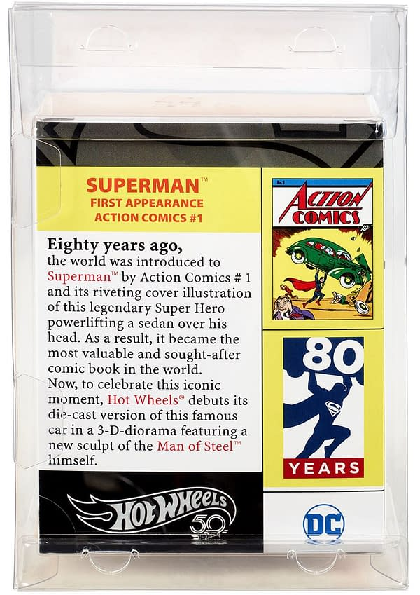 Mattel SDCC Exclusive Action Comics 1 Hot Wheels 3