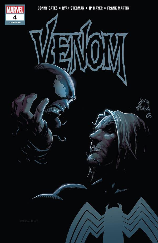 Venom #4 cover by Ryan Stegman, JP Mayer, and Frank Martin