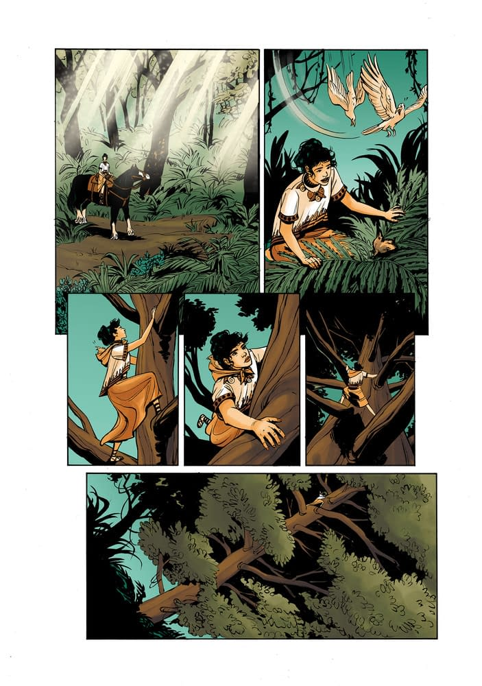 8 Pages from Leila Del Duca's Upcoming YA OGN, Wonder Woman: Tempest Tossed