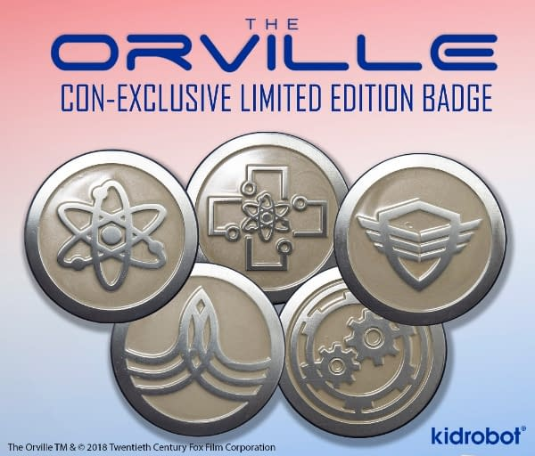 Kidrobot Orville Badge NYCC Exclusive
