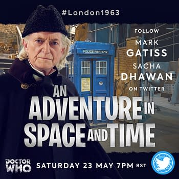 An Adventure in Space and Time Rewatch Artwork, courtesy of BBC.