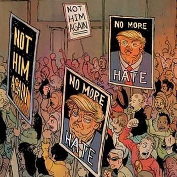 Frank Miller and Rafael Grampa Show President Donald Trump's 2020 Re-election Campaign in Batman: Dark Knight: The Golden Child