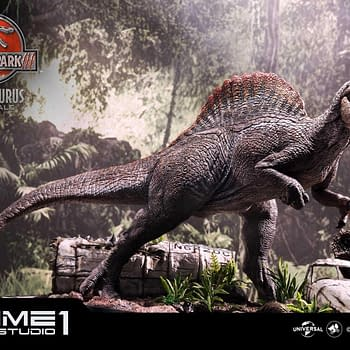 Jurassic Park III Spinosaurus is Unleashed with Prime 1 Studio