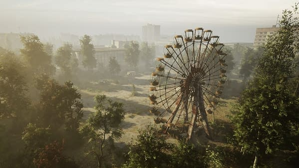 A look at the improved Pripyat area, courtesy of The Farm 51.
