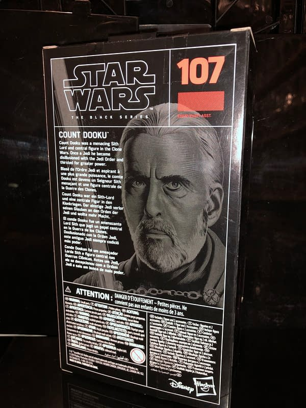 Star Wars Black Series Count Dooku from Hasbro is Here