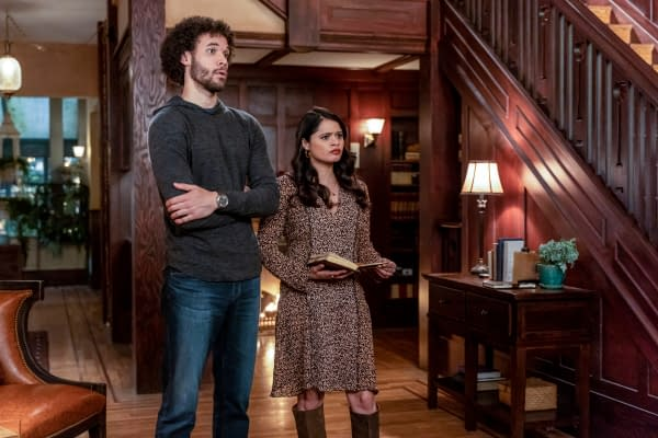 Jordan Donica's Jordan and Melonie Diaz's Melanie Vera need answers in this week's episode of Charmed, courtesy of The CW.