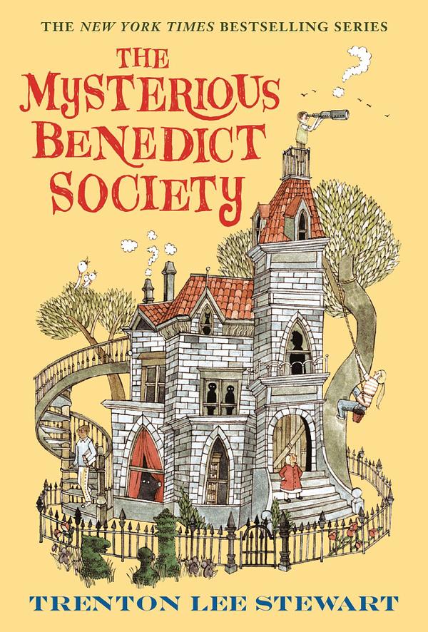 Voici la couverture de The Mysterious Benedict Society, avec la permission de Little, Brown and Company.