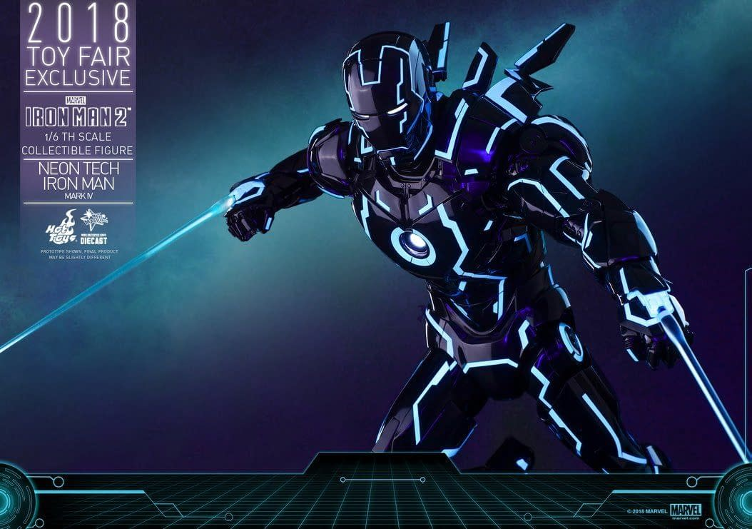 Hot Toys Neon Armor Tech Iron Man 9