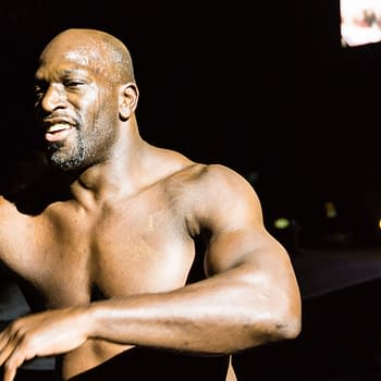 The Tag Team Match of Titus O'Neil and Apollo Crews vs. Curt Hawkins and Goldust during WWE Live Tour 2017. Editorial credit: Bjoern Deutschmann / Shutterstock.com