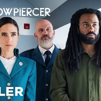 Jennifer Connelly and Daveed Diggs in Snowpiercer, courtesy of TNT.