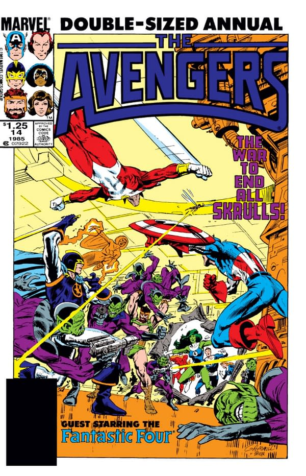 The Avengers Annual #14 Cover