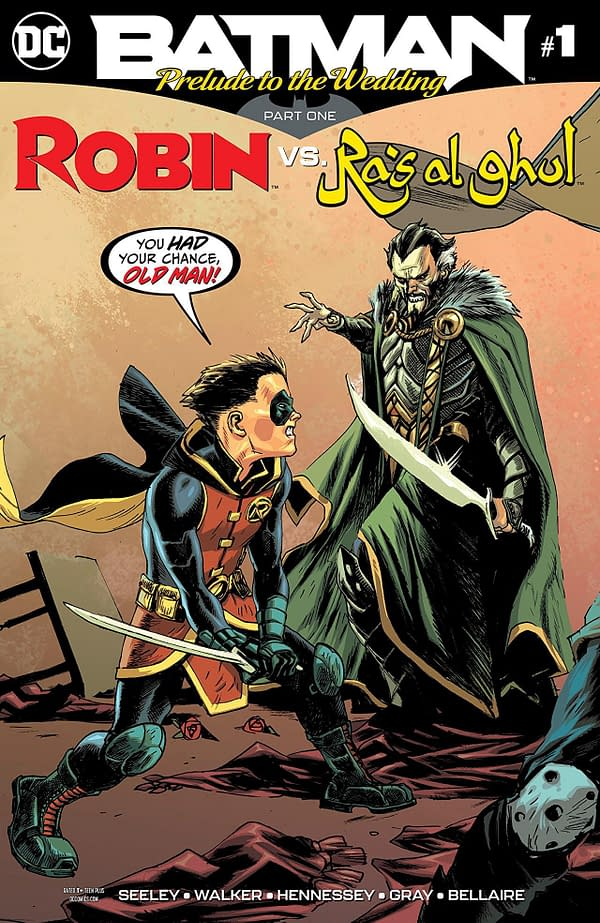 Batman Prelude to the Wedding #1: Robin vs. Ras al Ghul cover by Rafael Albuquerque and Dave McCaig
