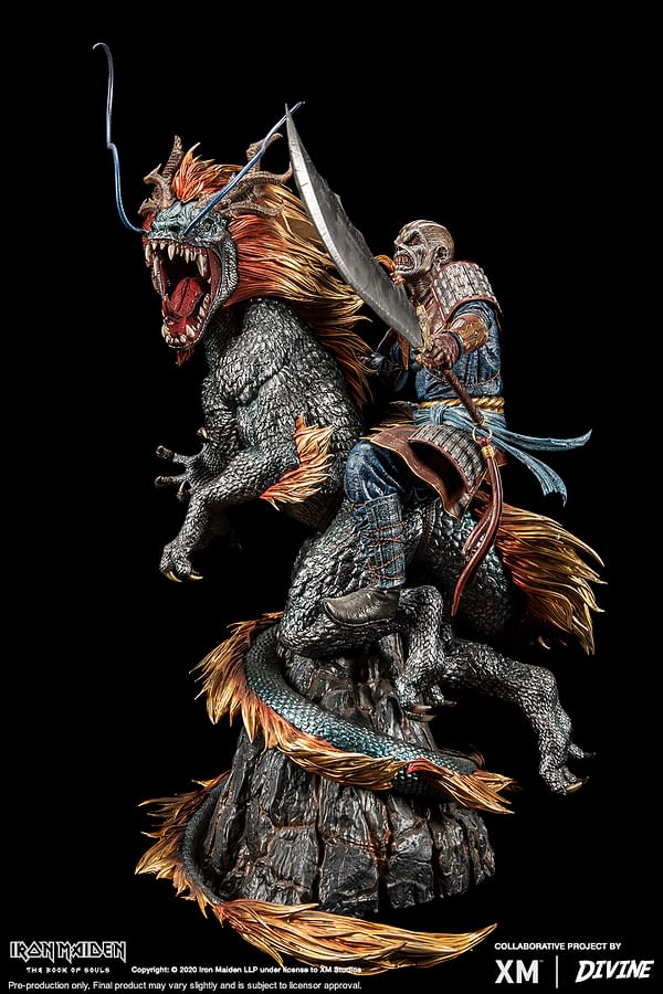 Eddie X The Chinese Dragon: 2016 The Book Of Souls World Tour Premium Collectibles statue