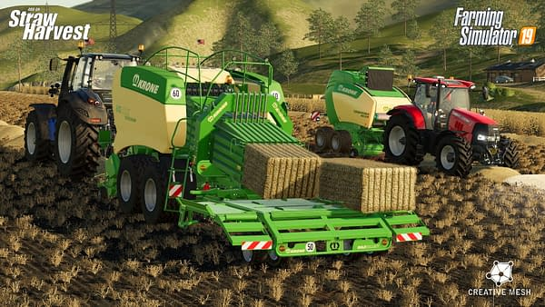 Farming Simulator 19 gets more vehicles in the Staw Harvest add-on.