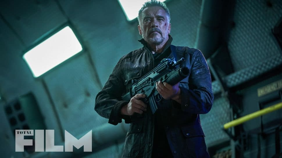 "New Picture of Arnold Schwarzenegger in ""Terminator: Dark Fate"""