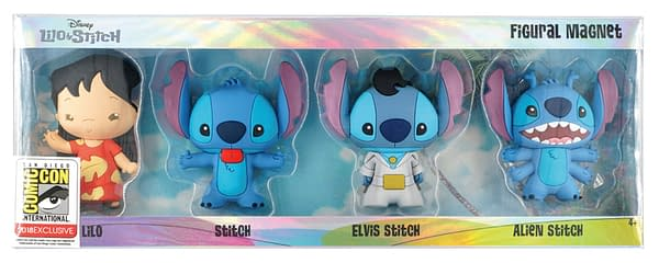 Monogram SDCC Exclusive Lilo and Stitch Keyring Set