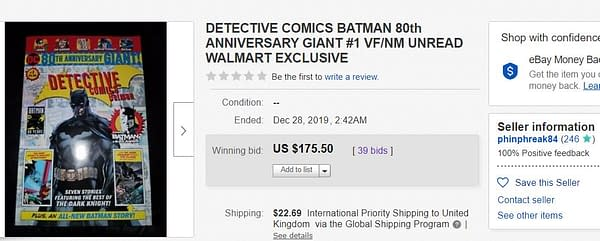 Detective Comics 80th Anniversary 100-Page Walmart Giant Selling For $175 - Your Latest Tulip