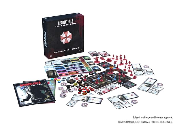 A look at Resident Evil 3 The Board Game and all of the pieces it comes with, courtesy of Capcom.