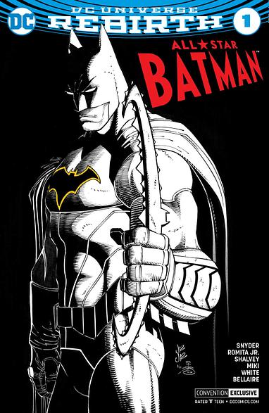 All-Star Batman #1 Rebirth  Sketch /& Color Variant 2016 NYCC