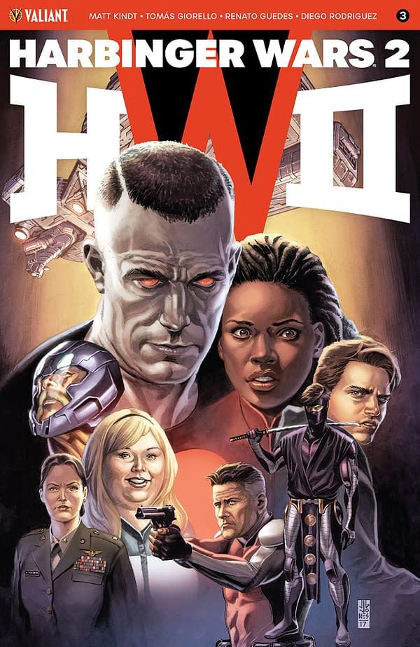 Harbinger Wars II #3 cover by JG Jones and Diego Rodriguez