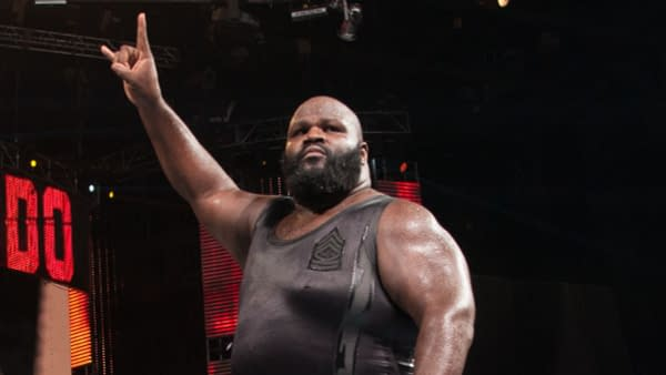 Mark Henry returns to the ring, courtesy of WWE.