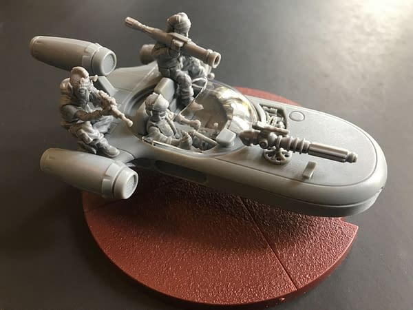Looking Under the Hood of Fantasy Flight's X-34 Landspeeder for 'Star Wars: Legion'