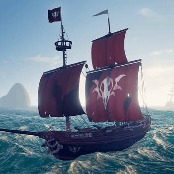 Sea of Thieves Cursed Sails red