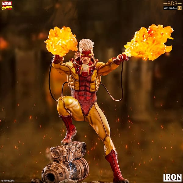 X-Men Pyro Brings the Heat in New Iron Studios Statue