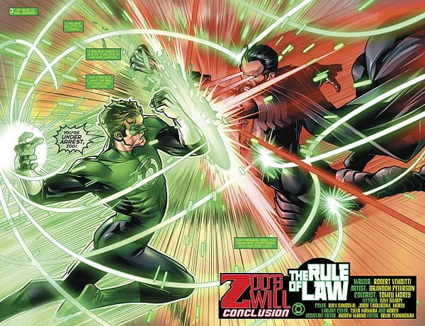 Hal Jordan and the Green Lantern Corps #41 art by Brandon Peterson and Tomeu Morey