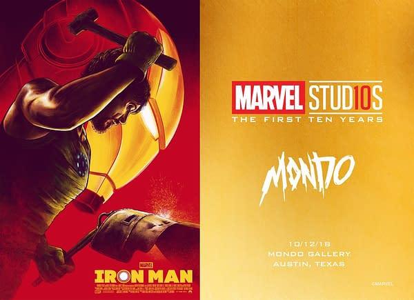 Mondo Marvel MCU Anniversary Gallery Postcard