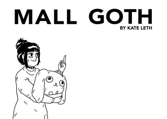 Kate Leth's First Graphic Novel, Mall Goth, from Simon & Schuster.