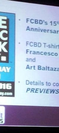 Francesco Francavilla And Art Baltazar Create T-Shirts For 15th Free Comic Book Day May 7th 2016