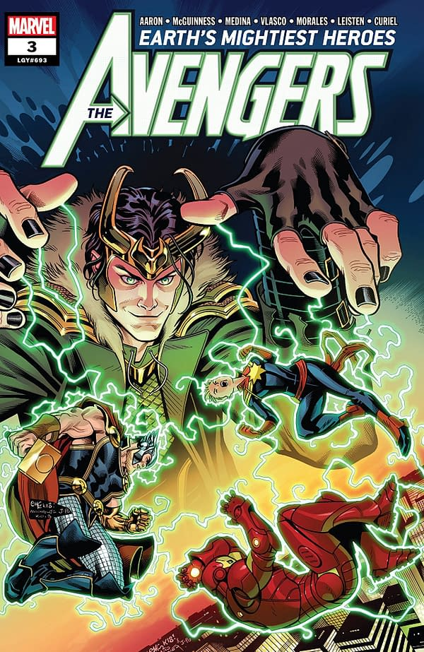 Avengers #3 cover by Ed McGuinness, Mark Morales, and Justin Ponsor