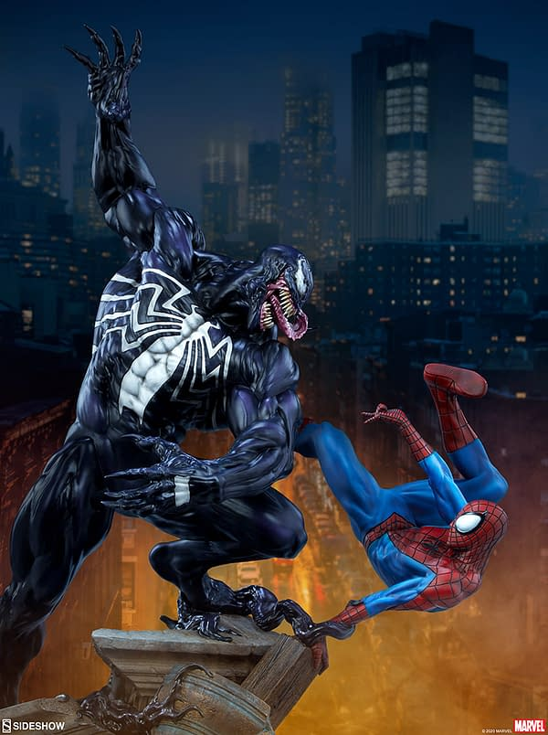 Venom Takes On Spider-Man in New Sideshow Collectibles Statue