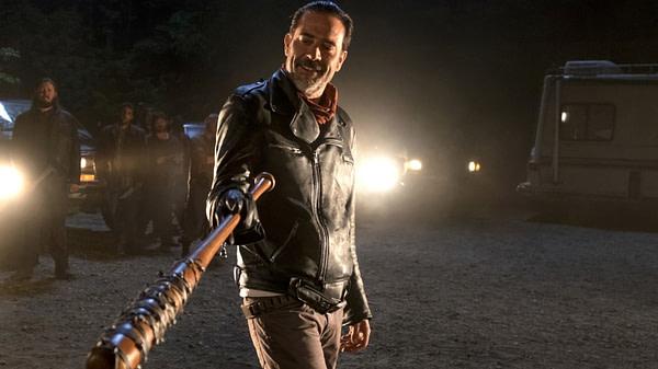 Veuillez autoriser Negan à riposter sur The Walking Dead, gracieuseté d'AMC.