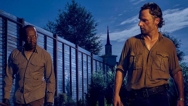 Rick et Morgan de The Walking Dead, gracieuseté d'AMC.