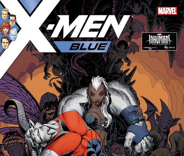 Cover to X-Men: Blue #11 by Arthur Adams and Peter Steigerwald
