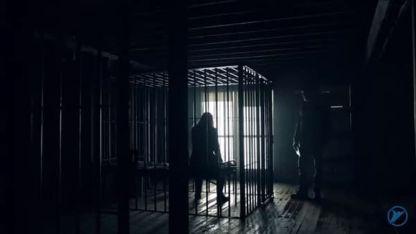 A mysterious prisoner waits patiently in the sixth season of Fear the Walking Dead, courtesy of AMC.