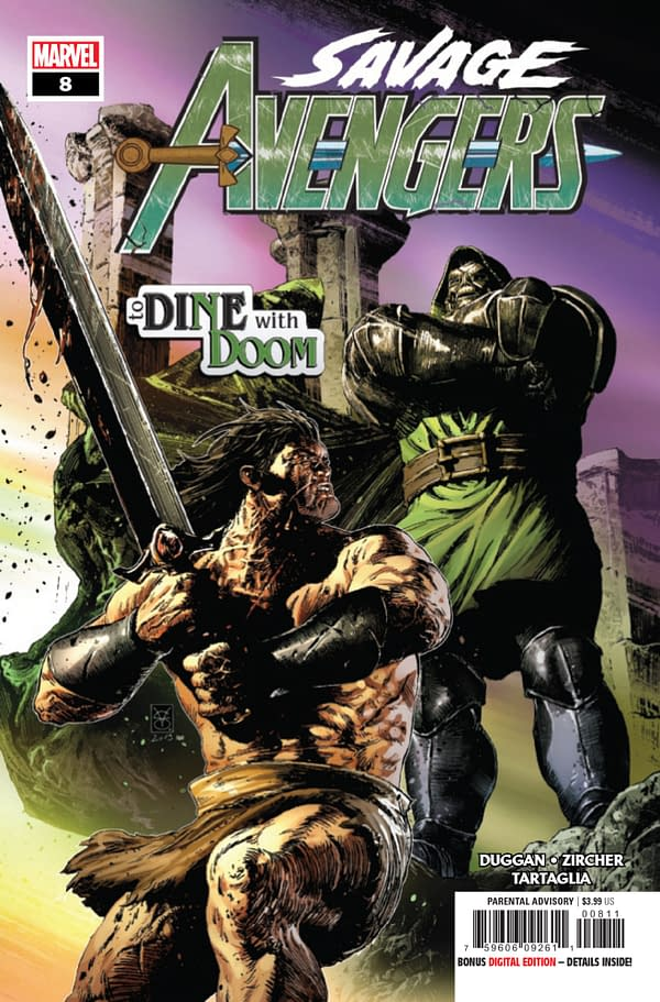 Doctor Doom Gets Intimate with Conan in Savage Avengers #8 [Preview]