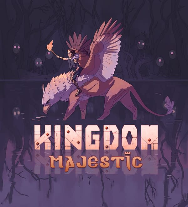 Key art for Kingdom Majestic, coming to the Nintendo Switch, PlayStation 4, and Xbox One this July.