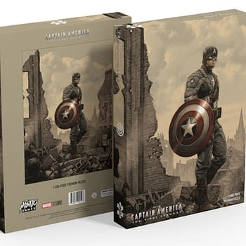 A Captain America themed puzzle by Mondo.