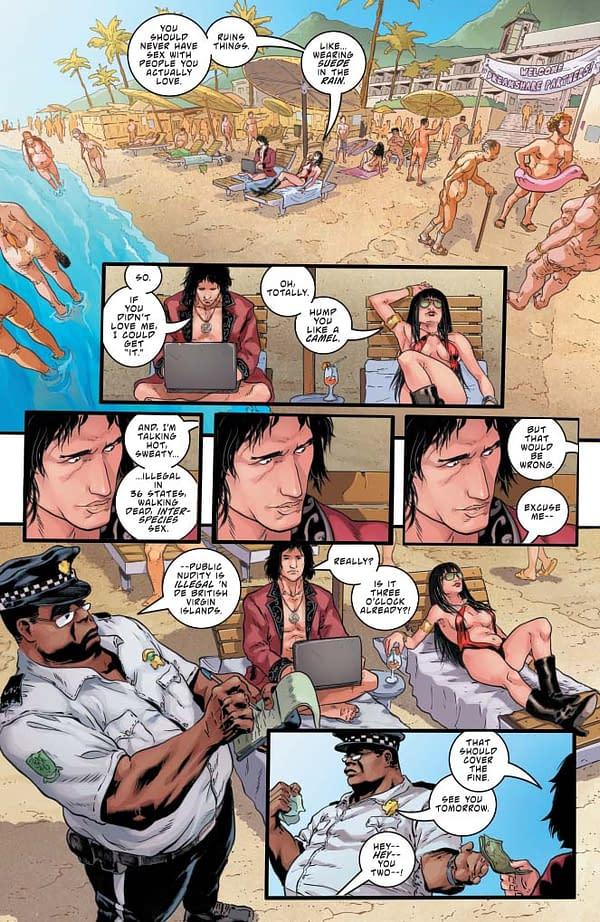 Comics Code Censors Pushed to Limits as Vampirella Visits Nude Beach in Vampirella #7 [Preview]