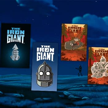 Mondo Now Selling Iron Giant Pins By Tom Whalen And A Shirt