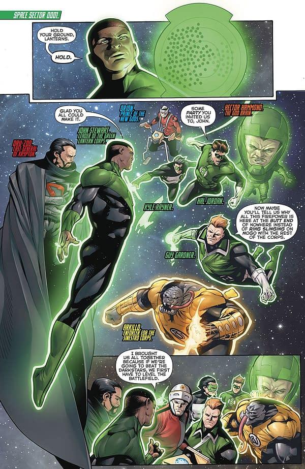 Hal Jordan and the Green Lantern Corps #48 art by Rafa Sandoval, Jordi Tarragona, and Tomeu Morey