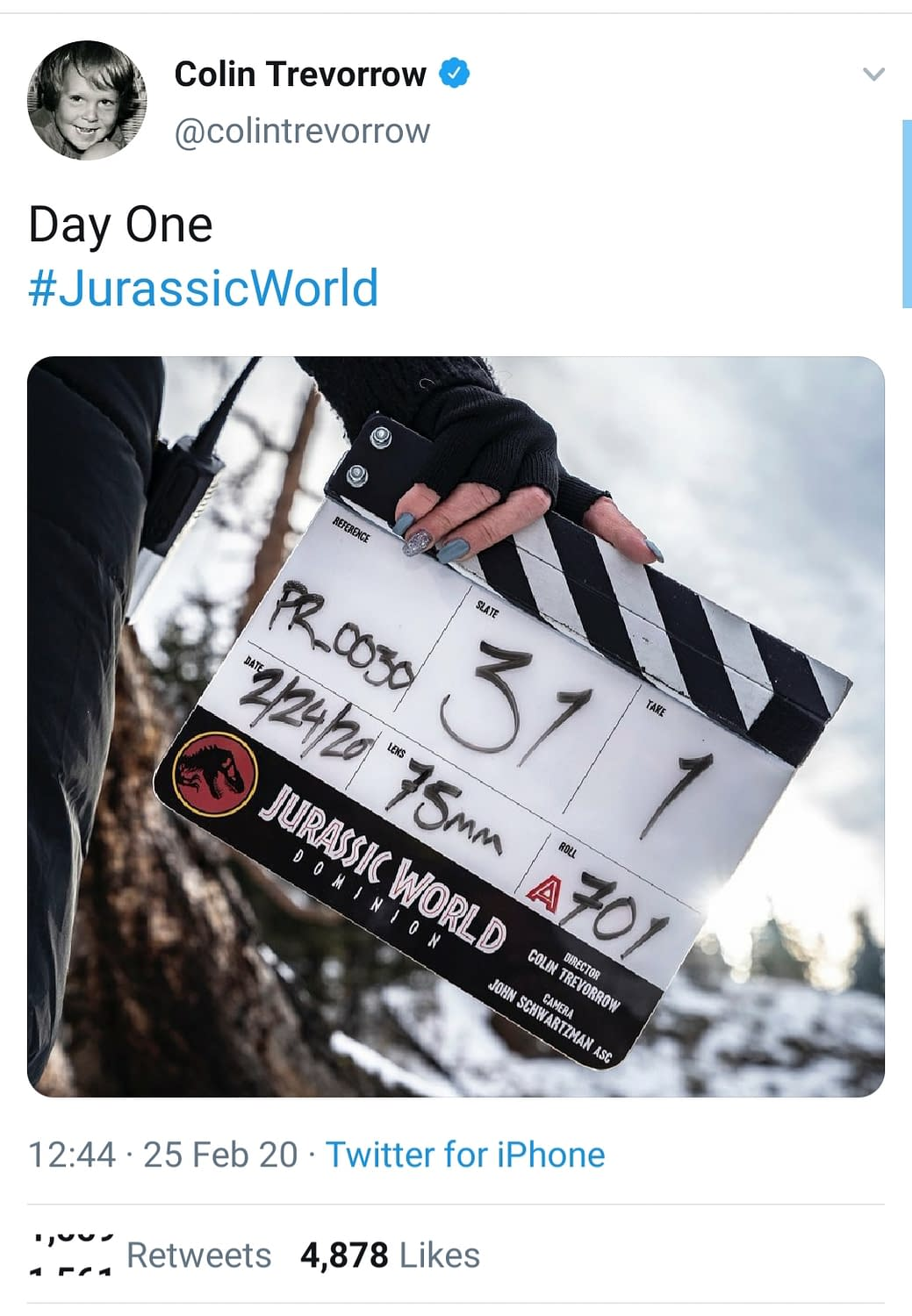 """Colin Trevorrow Reveals the Title for """"Jurassic World 3"""" as Production Begins"""