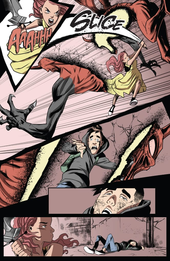 A preview page of Lucifer's Knight