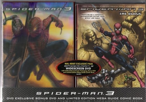 Walmart 2 Pack DVD + Comic